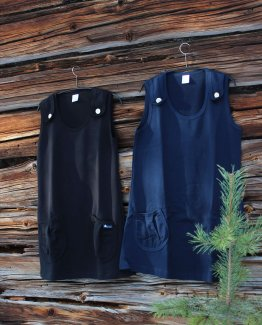 Musta ja tumman sininen liivihame